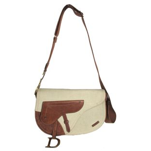 Bolsa-Christian-Dior-Double-Saddle-Offwhite-com-Marrom