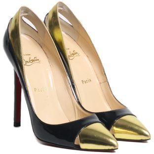 91d9235c7b Sapatos - peep toe Chanel   Christian Louboutin Verniz – prettynew