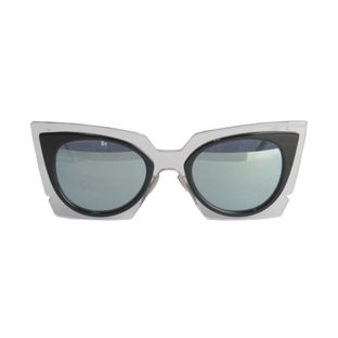 Oculos-Fendi-Iridia-Transparente-com-Lente-Verde-Espelhada