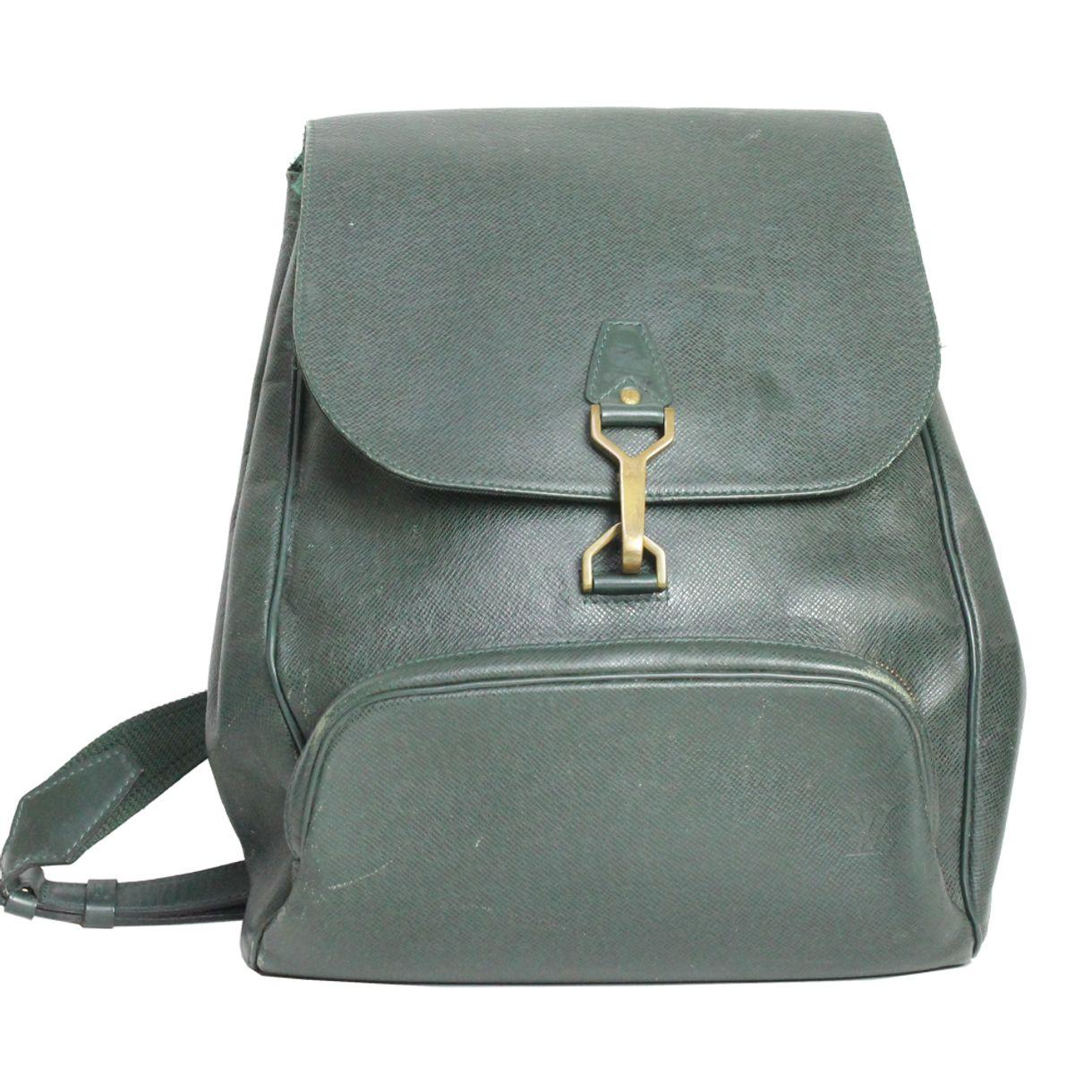 1eb6ff1eaa Mochila Louis Vuitton Couro Verde Vintage
