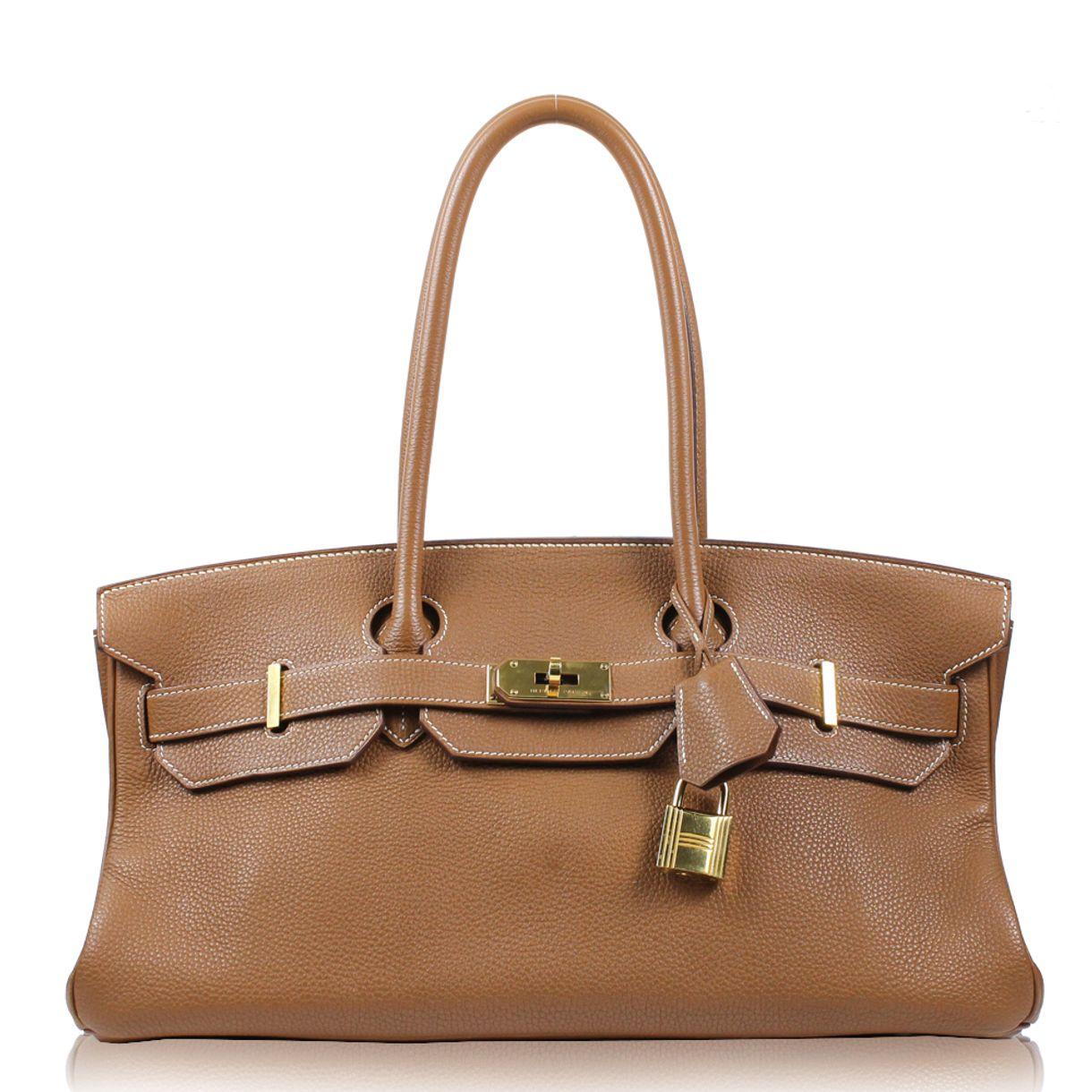 f0c2f9a84d548 Bolsa Hermès Birkin Shoulder Clemence Caramelo