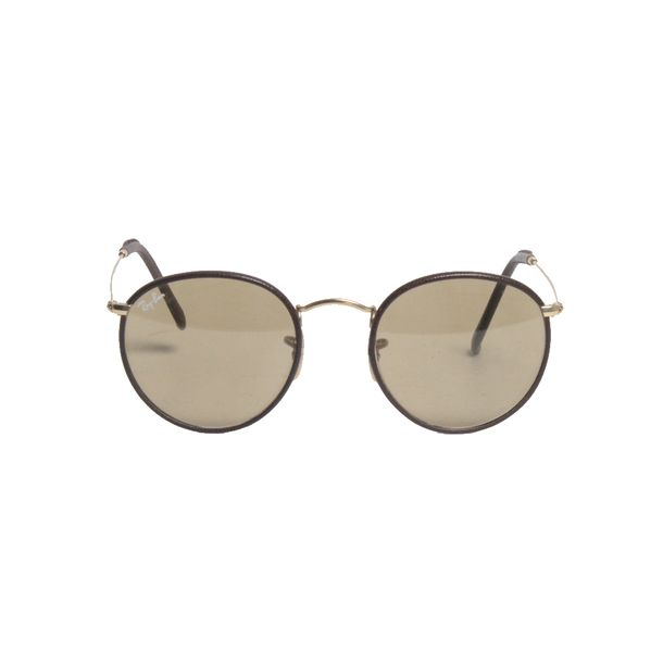 Oculos-Ray-Ban-Round-Couro