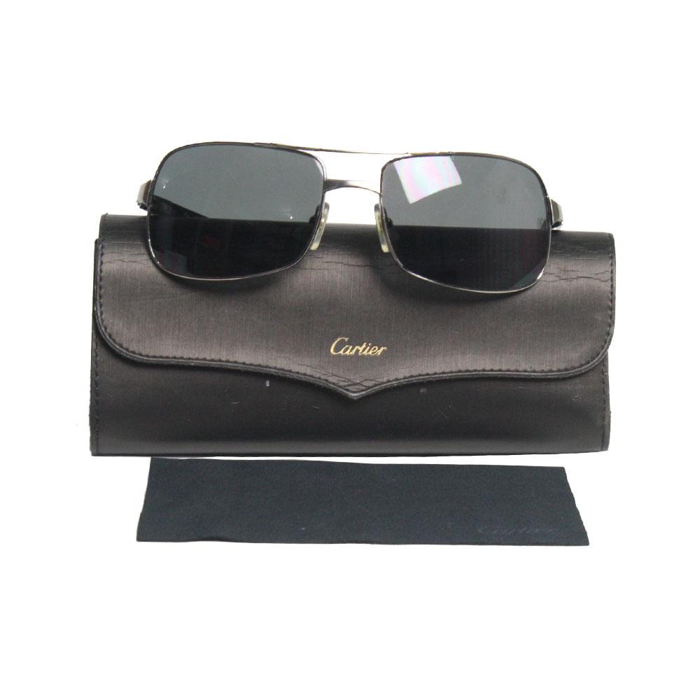 Óculos Cartier Masculino Squared   Brechó de luxo - prettynew f080ffe1f0