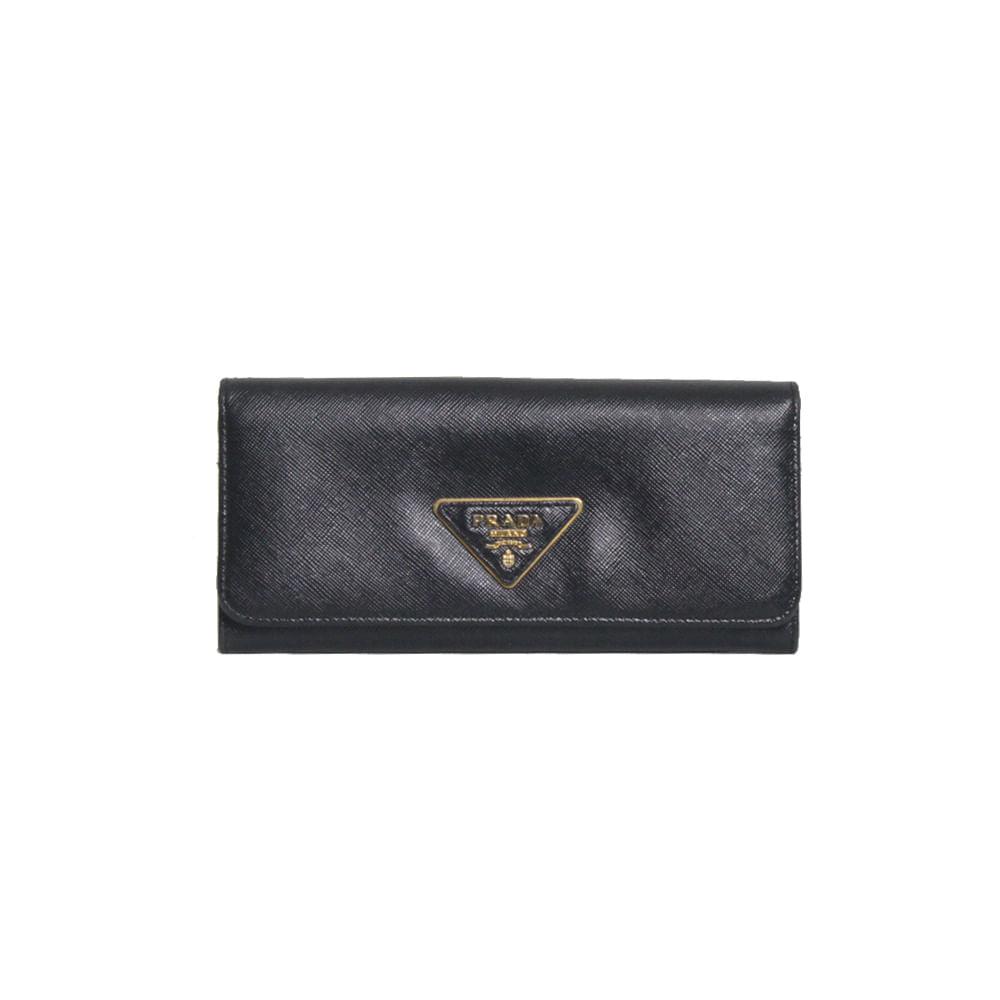 9a882c24452 Carteira Prada Zaffiano Leather Preta