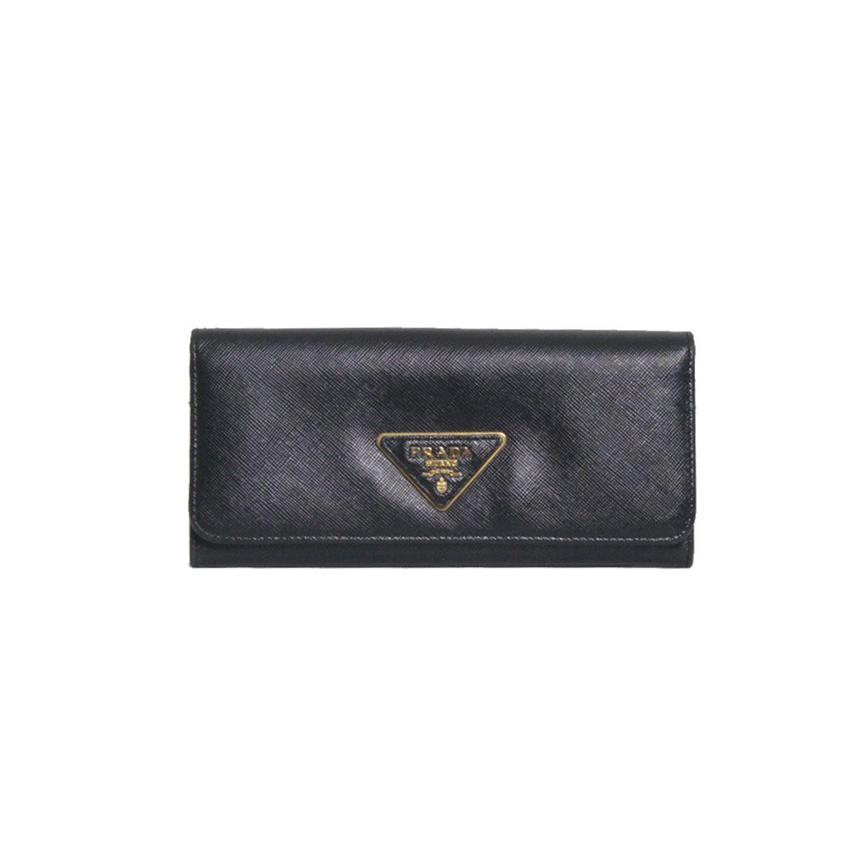 Carteira-Prada-Zaffiano-Leather-Preta