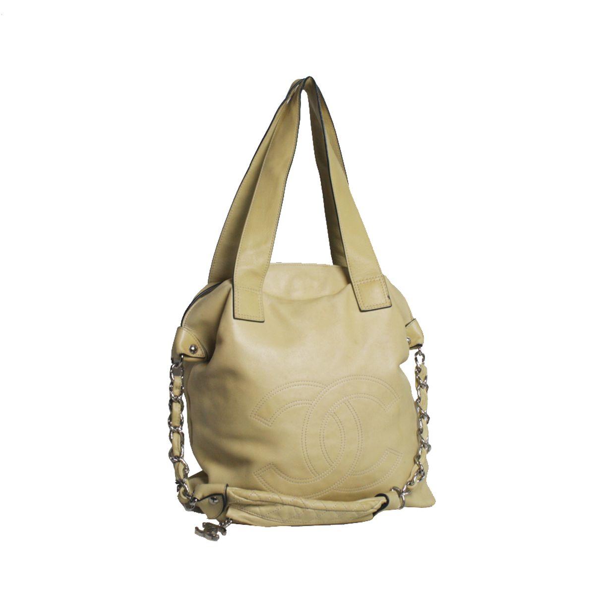 Bolsa-Chanel-Couro-Bege