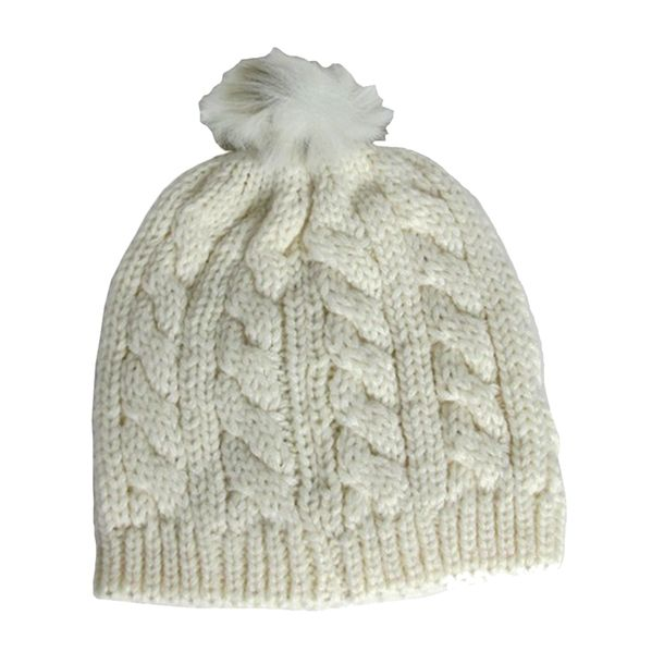 Gorro-Baby---Child-com-Pompom-Off-White