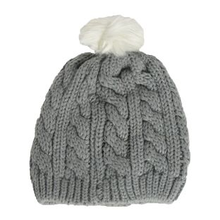 Gorro-Baby---Child-com-Pompom-Cinza