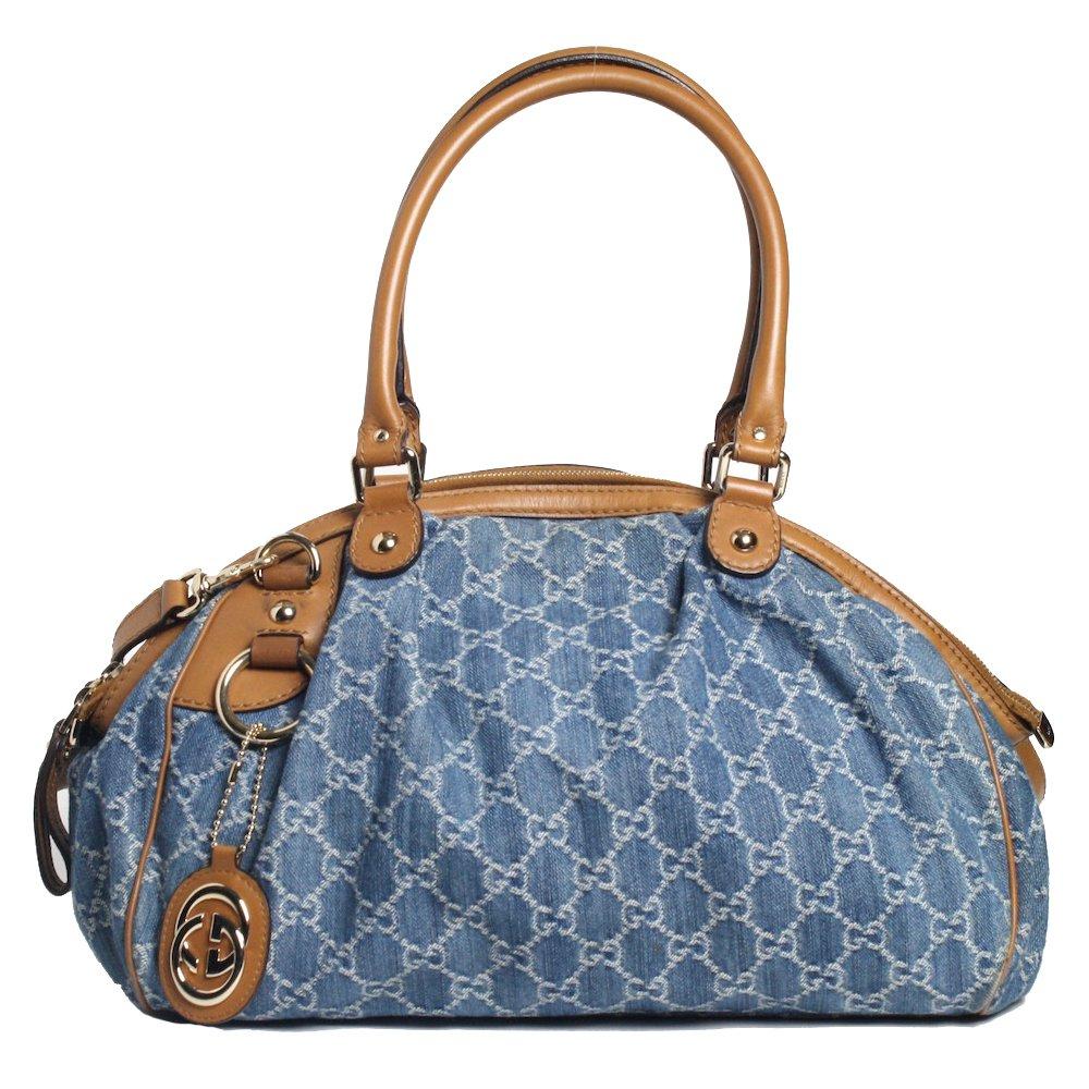 130d579c3 Bolsa Gucci Sukey M Denim | Brechó de luxo | Pretty New - prettynew