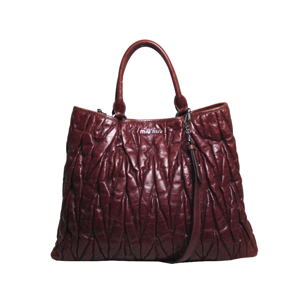 5bbe902ed75 Bolsa Miu Miu Coffer Leather Vinho. Previous