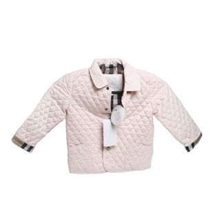 Casaco-Burberry-Quilted-Pink