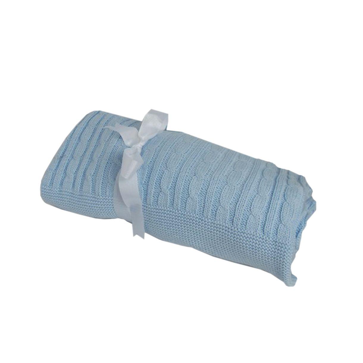 Manta-Baby---Child-Tricot-Azul-Tranca