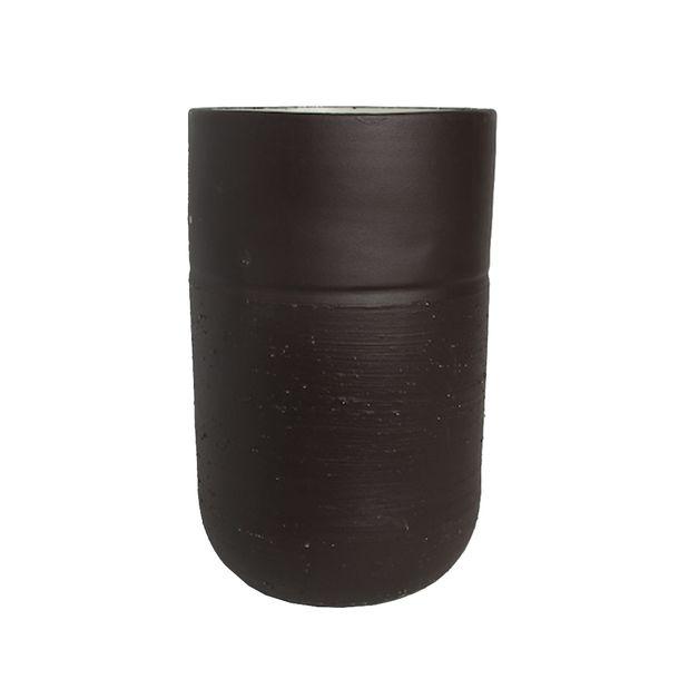Vaso-Ceramica-Marrom-Pequeno