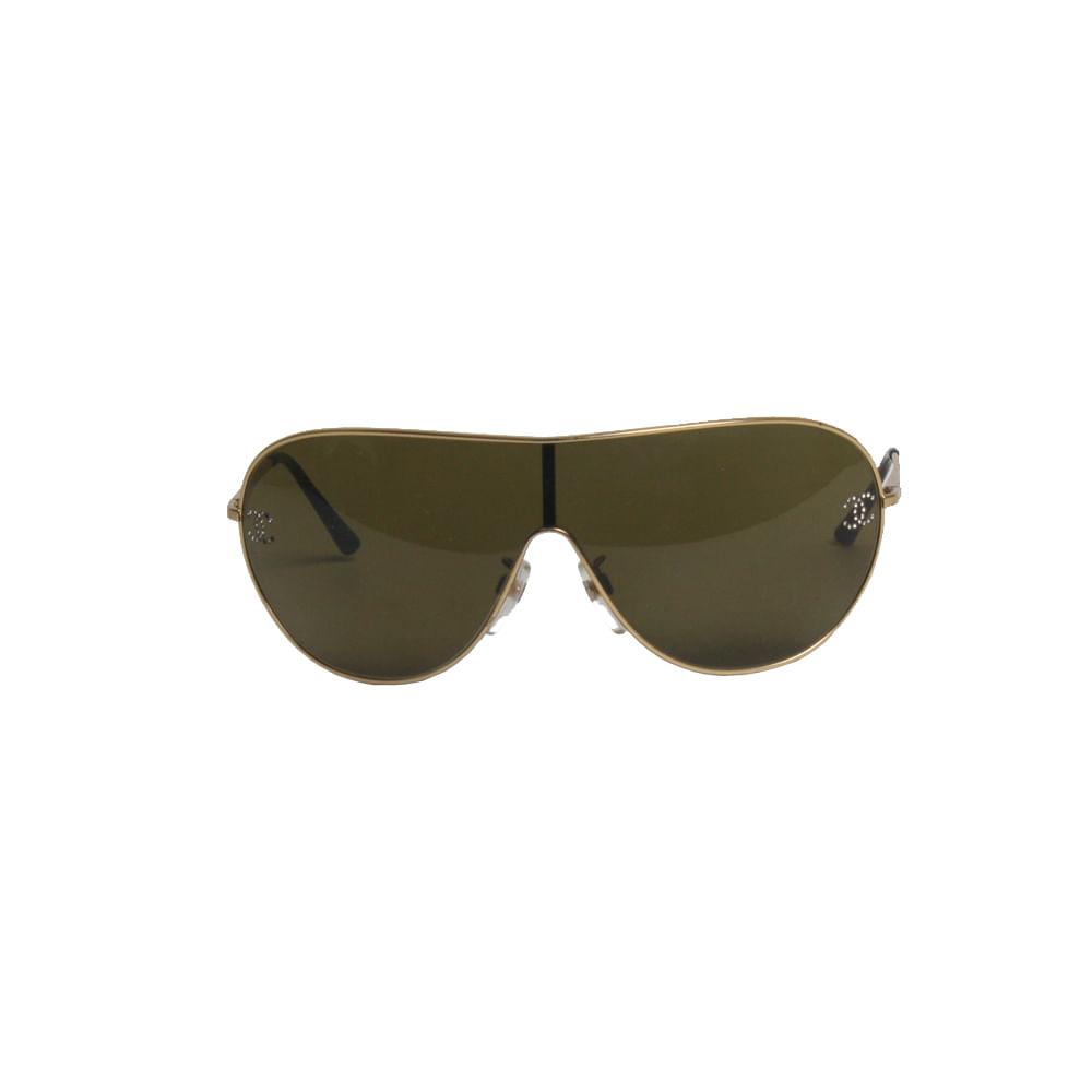 Óculos Chanel Dourado   Brechó de luxo   Pretty New - prettynew 35d8780b00