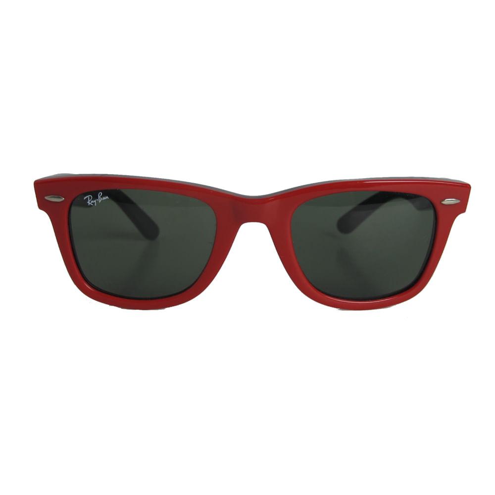 cafc4e2c6 Óculos Ray Ban Wayfarer P Vermelho | Brechó de luxo - prettynew