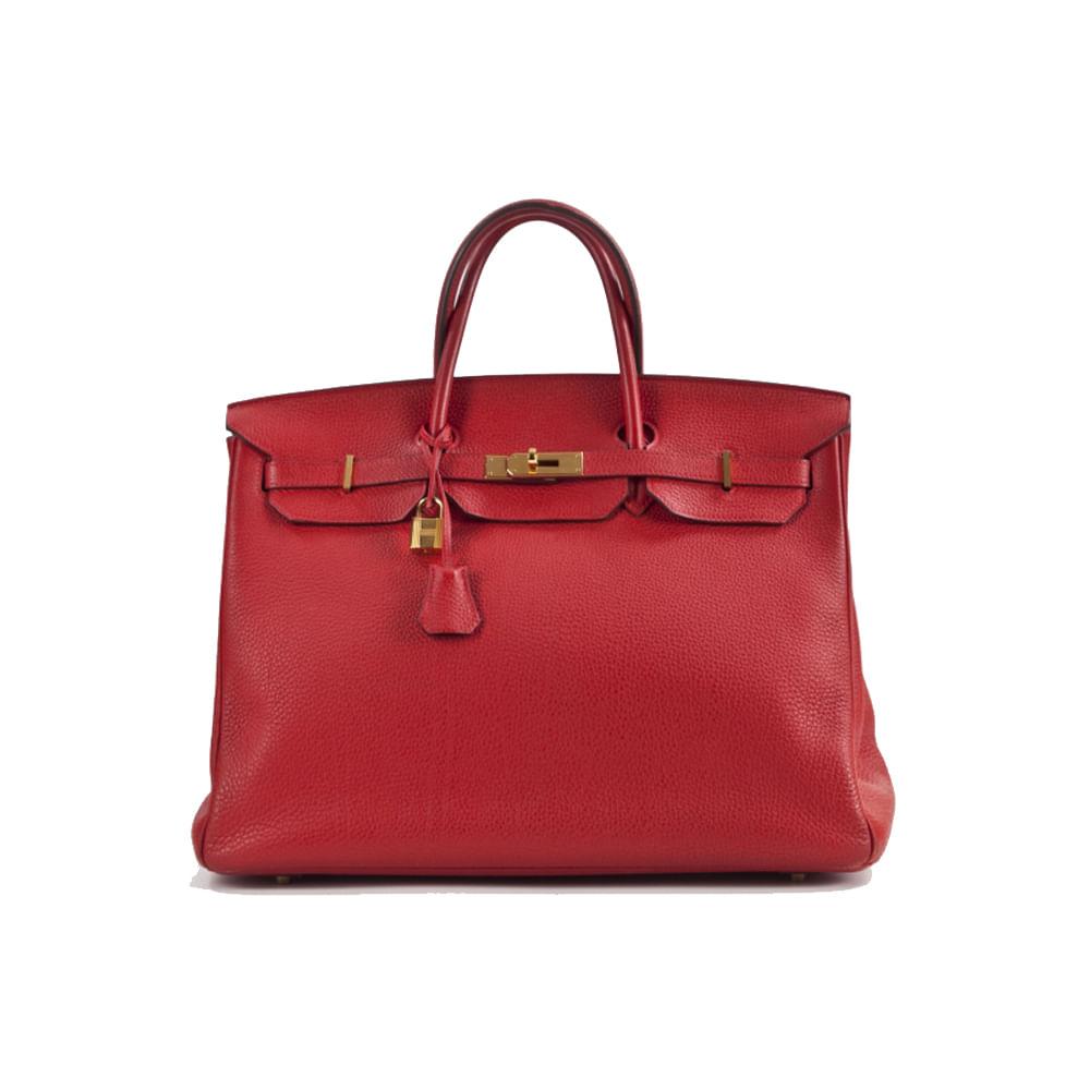fb138e4e5d0 Bolsa Hermes Birkin 40 Vermelha