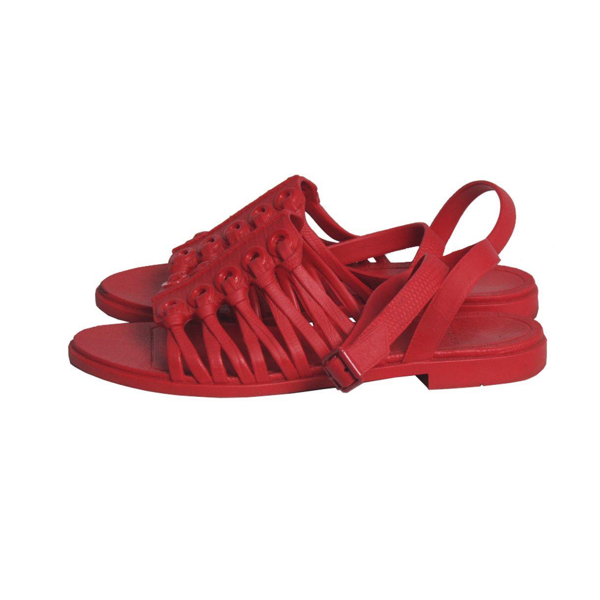 Jelly-Strap-Flat-Givenchy-Vermelha