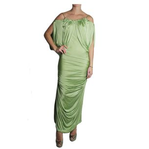 Vestido-John-Galliano-Viscose-Verde
