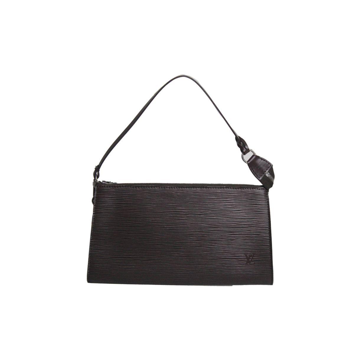 Bolsa-Louis-Vuitton-Epi-Pochette-Marrom