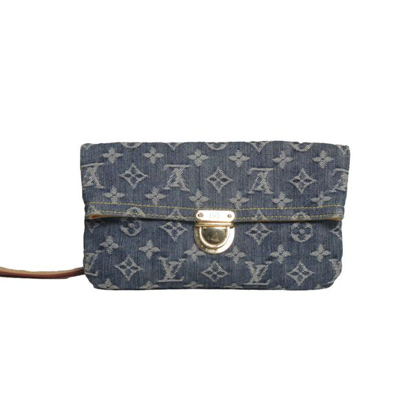 Clutch-Louis-Vuitton-Denim-Pochette