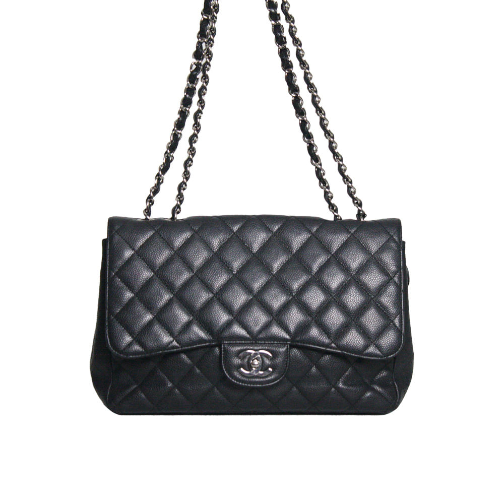 a90091cbab1bf Bolsa Chanel Classic Flap Preta   Brechó de luxo - prettynew