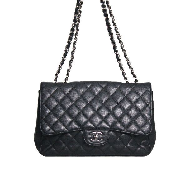 f7b03d892 Bolsa Chanel Classic Flap Preta | Brechó de luxo - prettynew