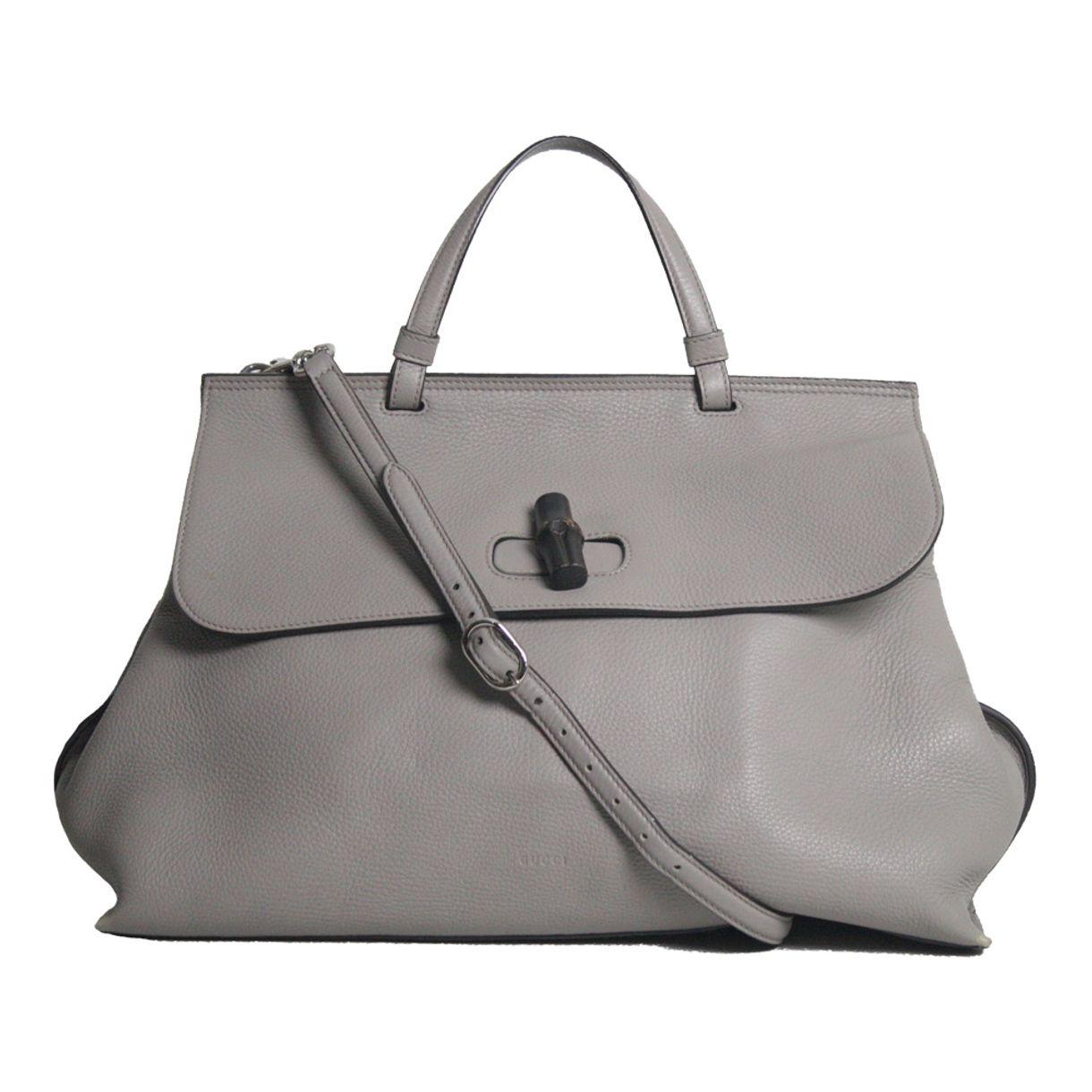 Bolsa-Gucci-Bamboo-Daily-Bag-Cinza