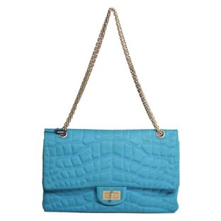 Bolsa-Chanel-Quilted-Satin-Reissue-226-Turquesa