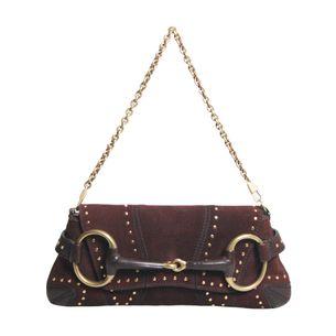 Bolsa-Gucci-Horsebit-Camurca-Vinho-com-Studs