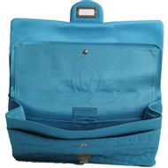 Bolsa-Chanel-Quilted-Satin-Reissue-226-Turquesa