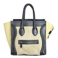 Bolsa-Celine-Luggage-Off-White-e-Preta