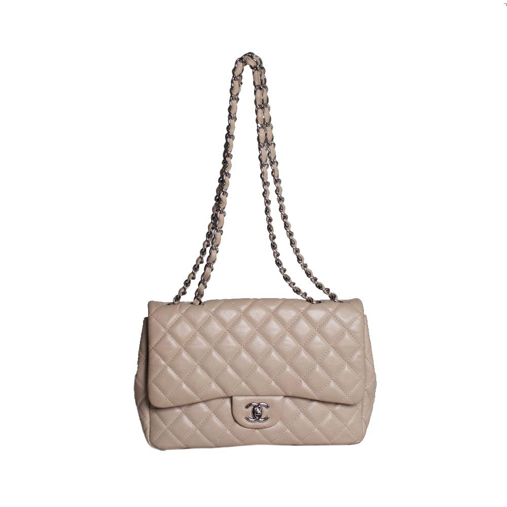 20cea2b0d3 Bolsa Chanel Classic Flap Nude. Previous