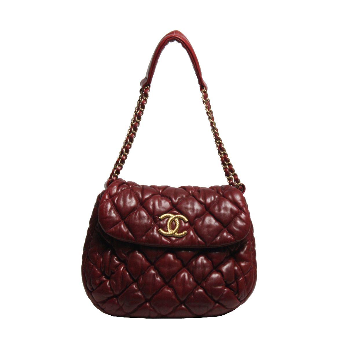 Bolsa-Chanel-Matelasse-Burgundy