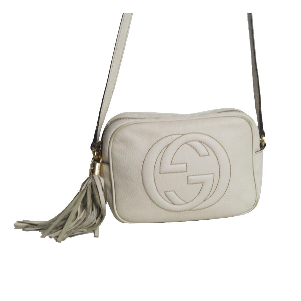 b99e67b2b Bolsa Gucci Soho Disco White | Brechó de luxo | Pretty New - prettynew