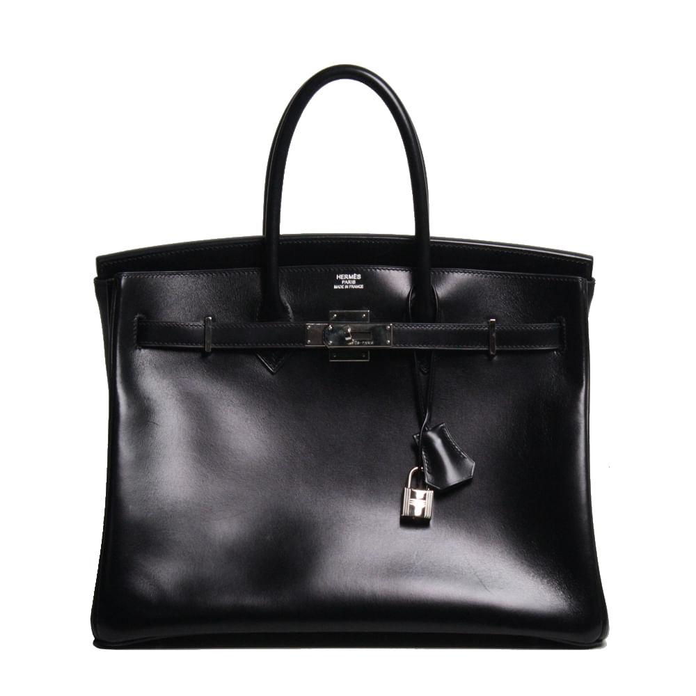 98764b5ea Bolsa Hermes Birkin 35 Preta | Brechó de luxo | Pretty New - prettynew
