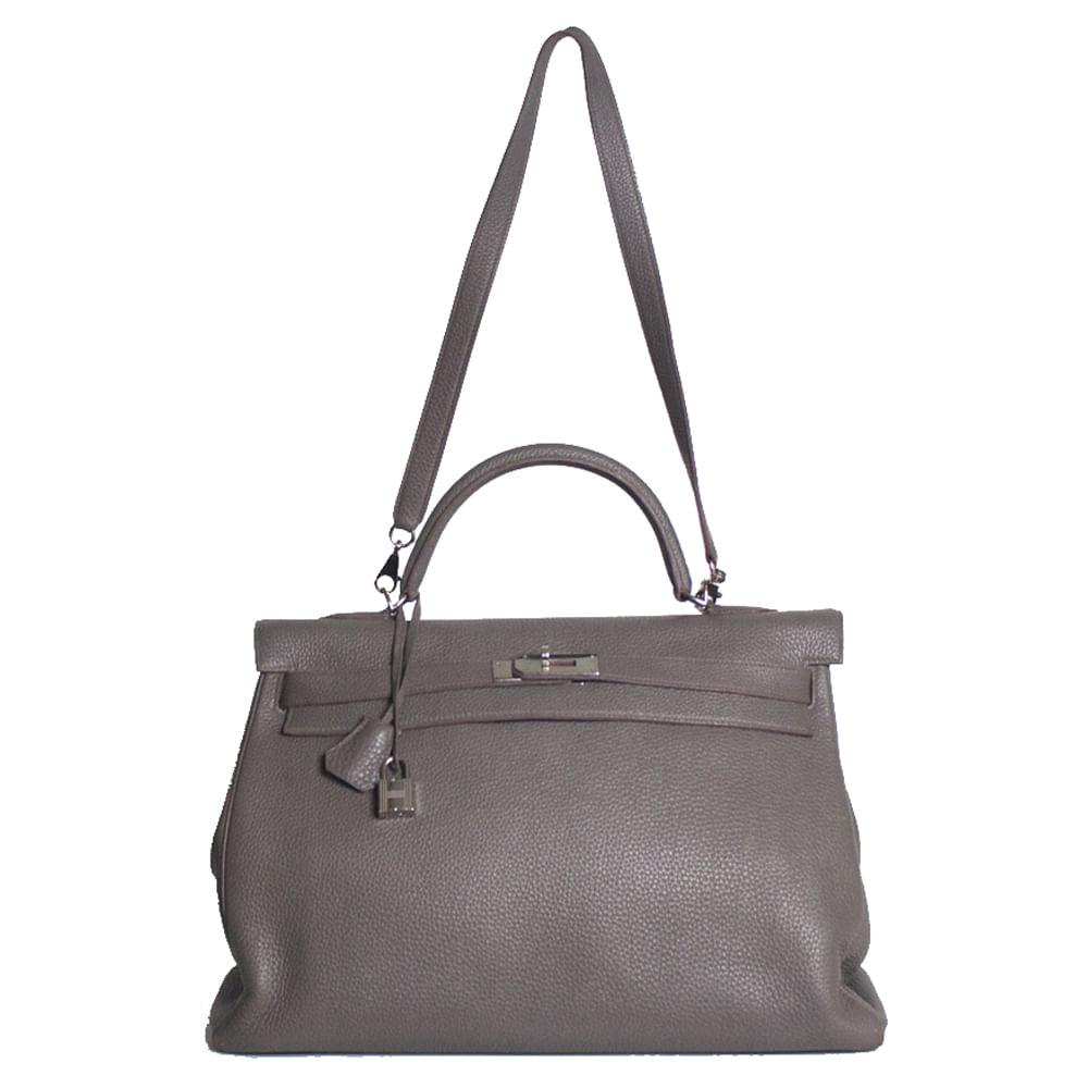 Bolsa Hermes Kelly 40 Cinza   Brechó de luxo   Pretty New - prettynew 7a700cee1f