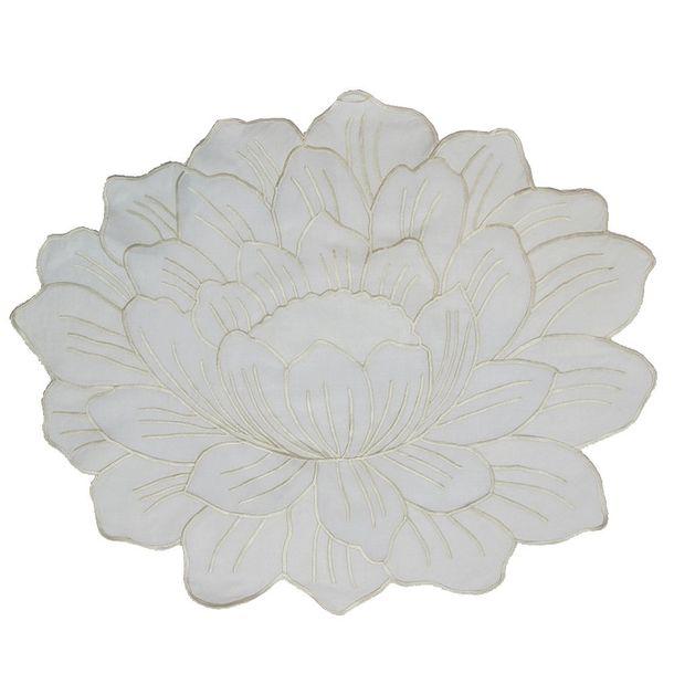Jogo-Americano-de-Linho-10-pecas-Branco-Flor-com-Guardanapos