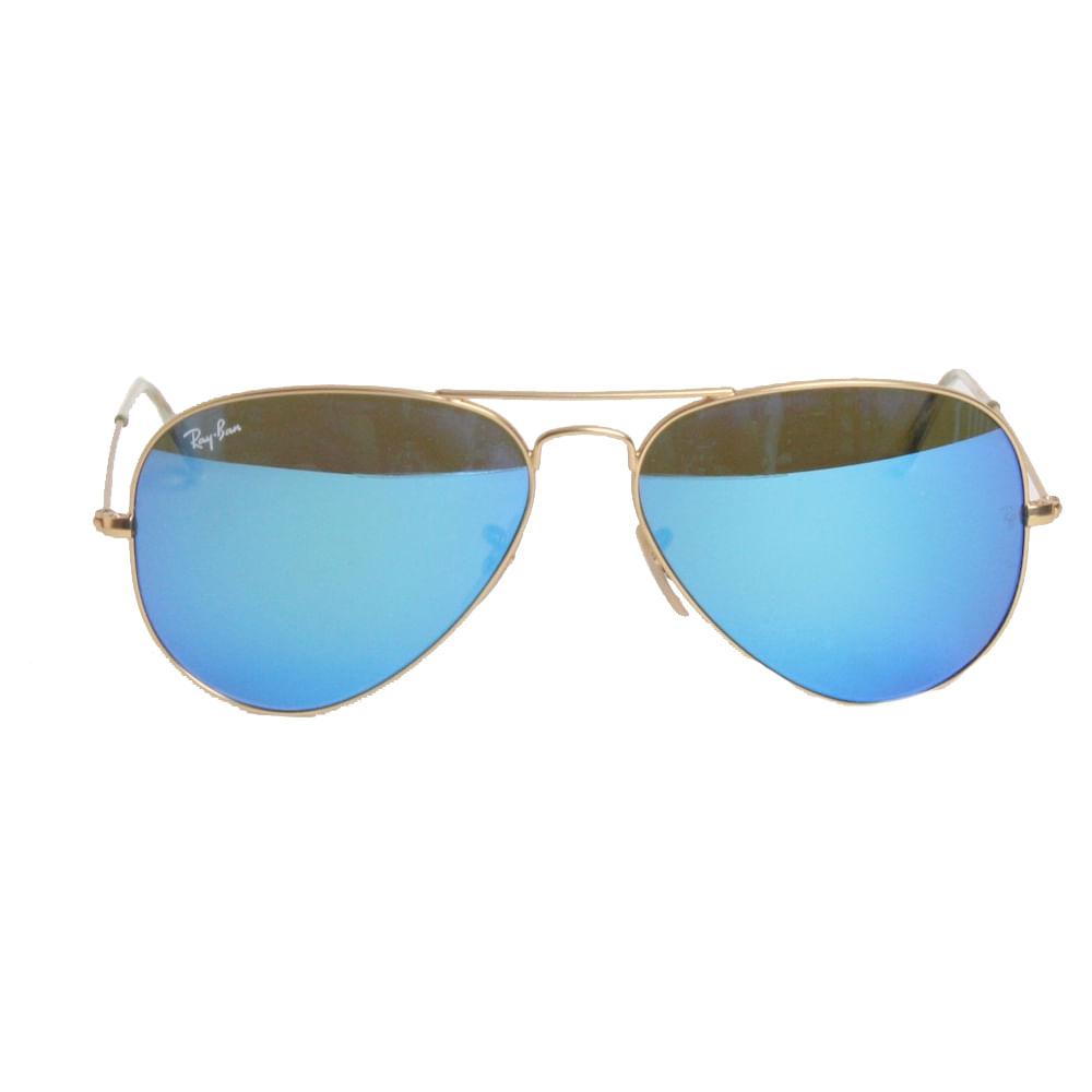 6969064af Óculos Ray Ban Aviator Espelhado Azul | Brechó de luxo - prettynew