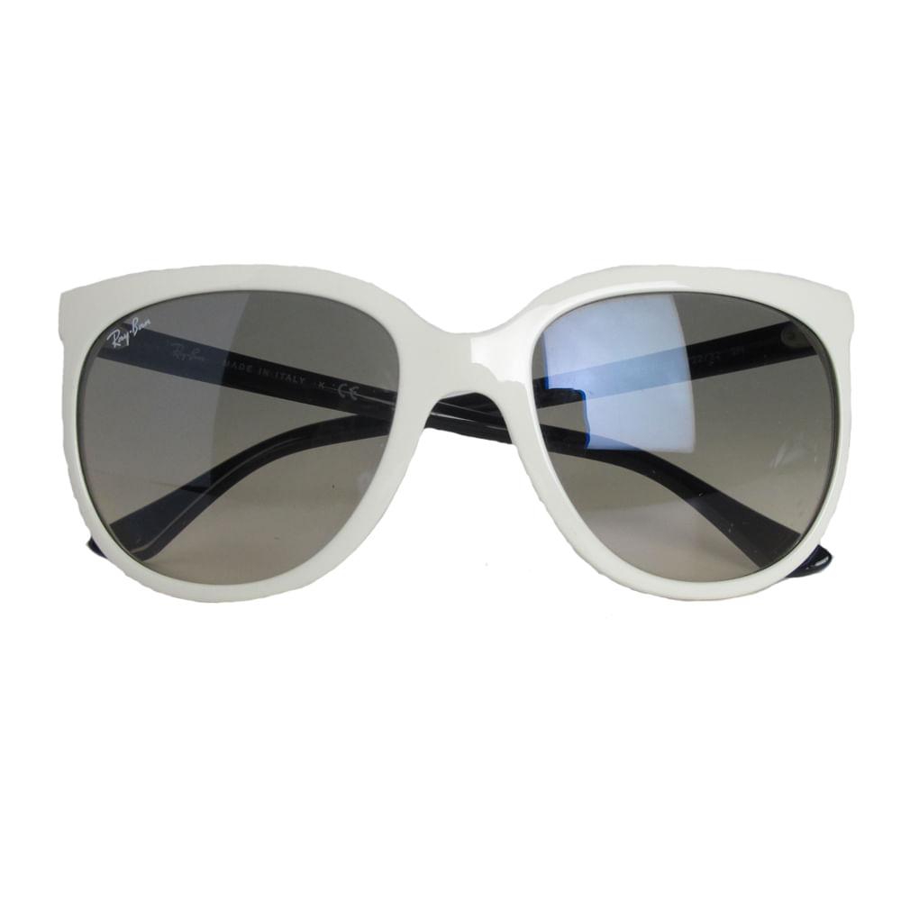 Óculos Ray Ban Cats Branco   Brechó de luxo   Pretty New - prettynew 2eb5e72b9b