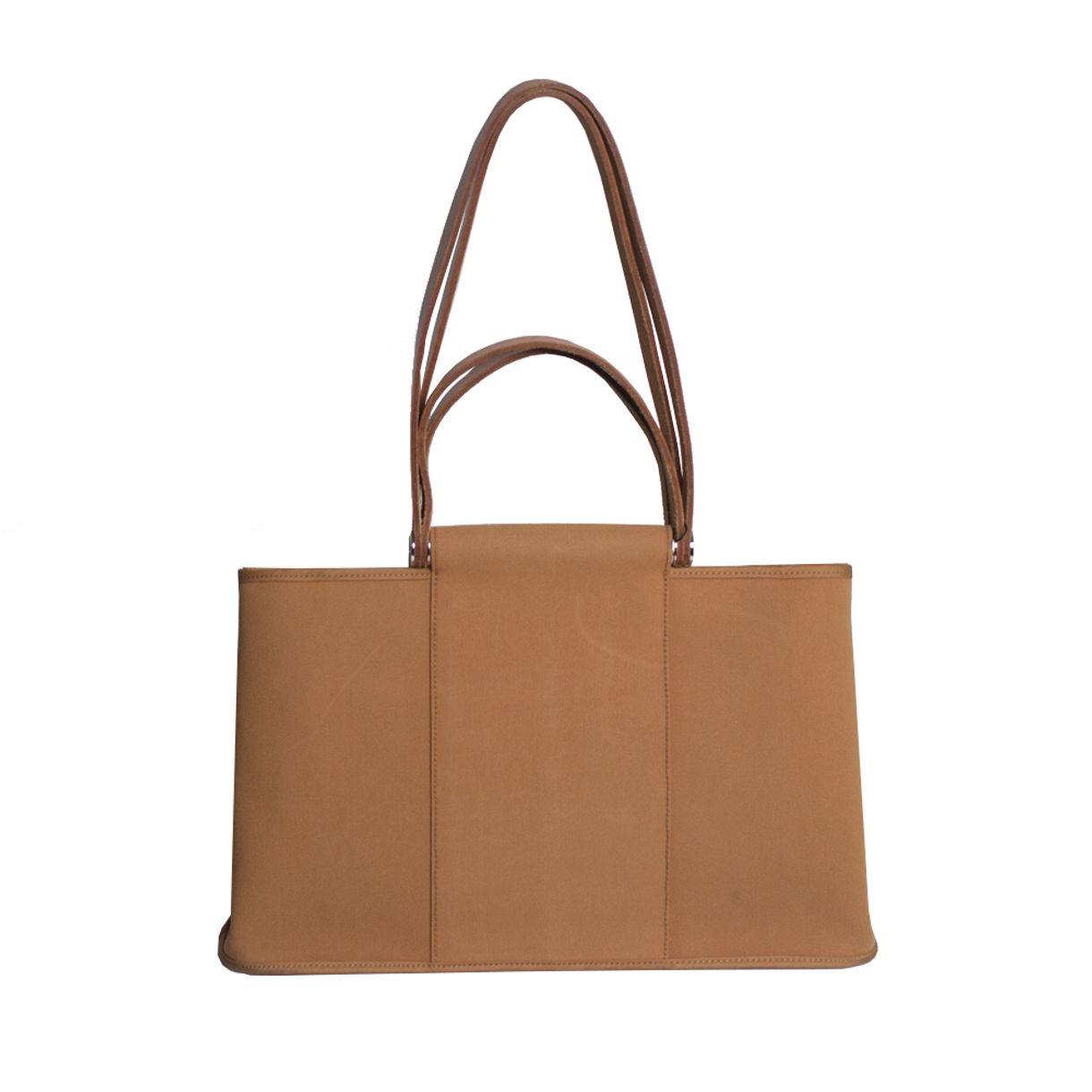 Bolsa-Hermes-Cabag-Elan-Tote-Caramelo