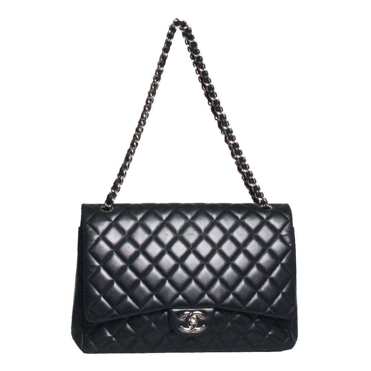 Bolsa-Chanel-Double-Flap-Maxi-Black
