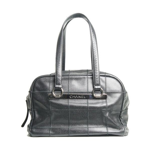 Bolsa-Chanel-Square-Quilt-G-Preta