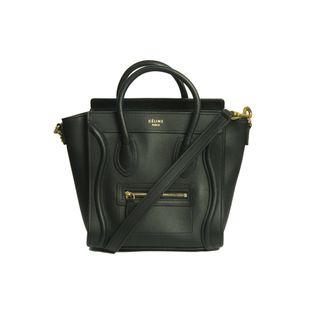 Bolsa-Celine-Nano-Luggage-Tote-Preta