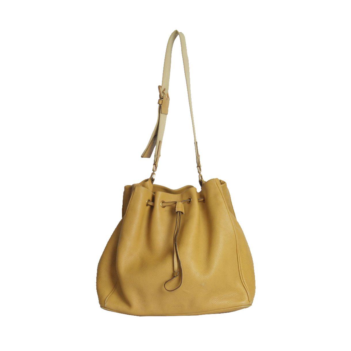 Bolsa-prada-couro-caramelo-alca-de-tecido-1