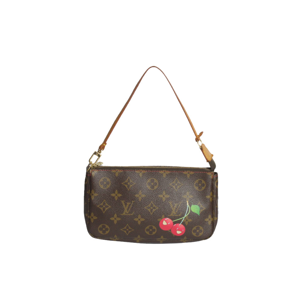 Bolsa Louis Vuitton Canvas Pochette Cherry   Brechó de luxo   Pretty ... 3d05295203
