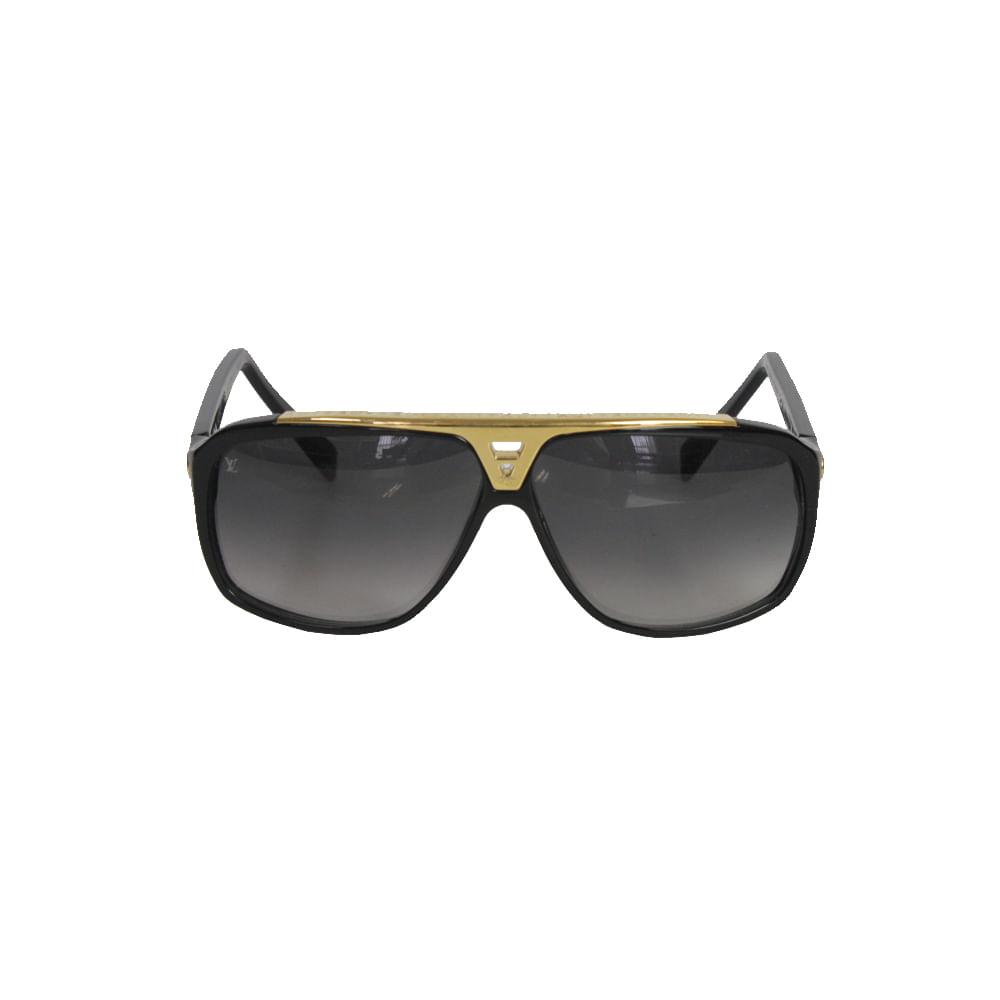 9123c9621 Óculos Louis Vuitton Evidence Preto | Brechó de luxo - prettynew