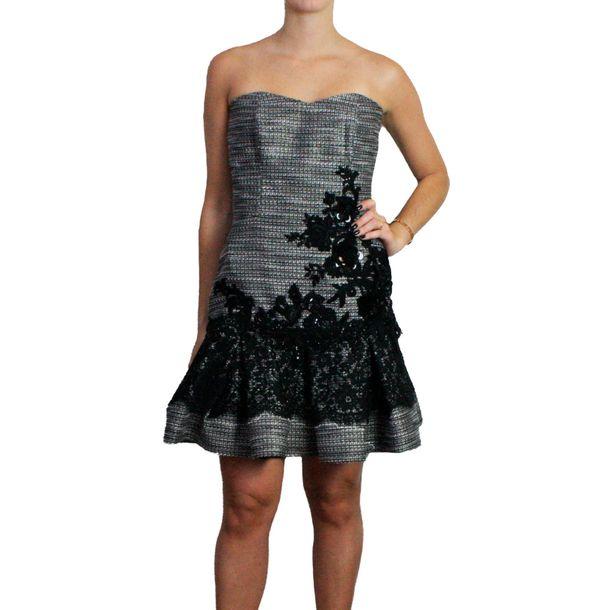Vestido-Martha-Medeiros-Tomara-que-Caia-em-Tweed-Preto-e-Branco