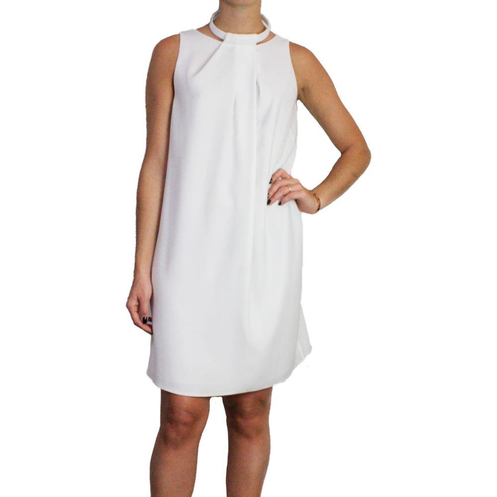 7f212ed05699b Vestido Emporio Armani Branco Curto   Brechó de luxo - prettynew