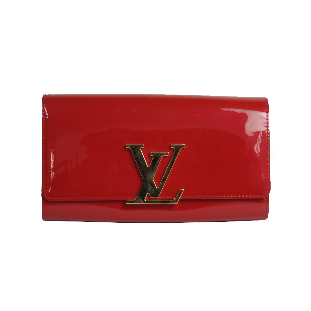 414594b2502b2 Clutch Louis Vuitton Verniz Vermelha   Brechó de luxo - prettynew