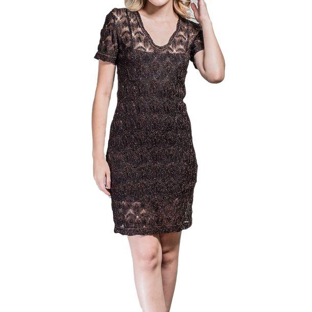 Vestido-Missoni-Preto-com-Fio-Bronze
